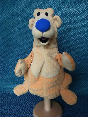 "BEAR IN THE BIG BLUE HOUSE PUPPET BY  MATTEL 11"" approx"