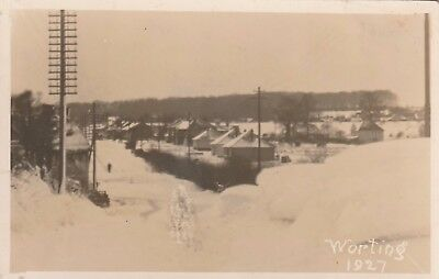 Hampshire, Worting, 1927 Snow Scene.