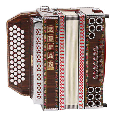 Professional Accordion 16 Bass Buttons 48 Treble Keys 6 Registers Straps Gig Bag