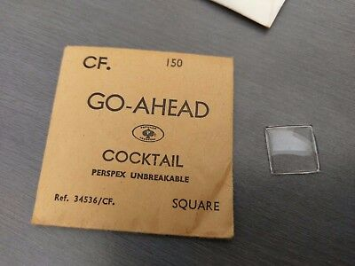 Vintage Cocktail Rectangle Shape WATCH Crystal -  15mm x 15mm