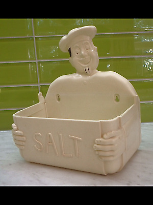 Gayware CHEF Salt Box Caddy ~GAY WARE COLLECTABLE KITCHENALIA Mid Century