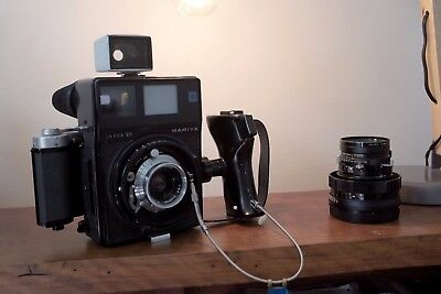Mamiya Super 23 Press with 65mm and 100mm lens, 6x7 back, grip, cable and finder
