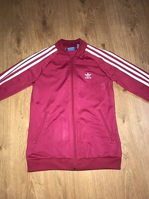 Adidas pink Track Top Girls Age 11-12