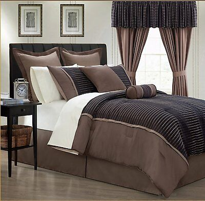 24 Piece Limbo Comforter w/Sheets/Curtain Bedroom Ensemble Set