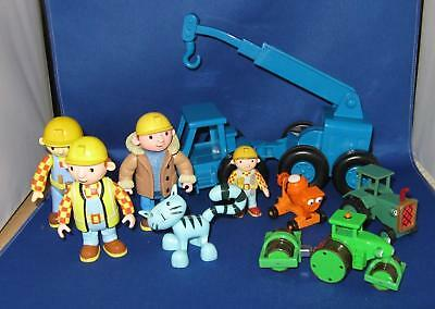 Bob The Builder 4 Vehicles & 5 Figures