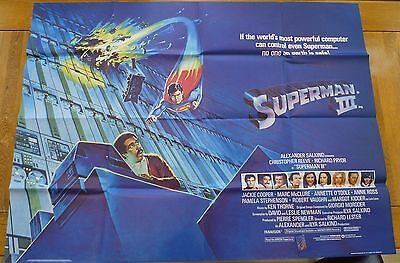 Superman 3 Original UK Quad Poster - Great condition - Christopher Reeve