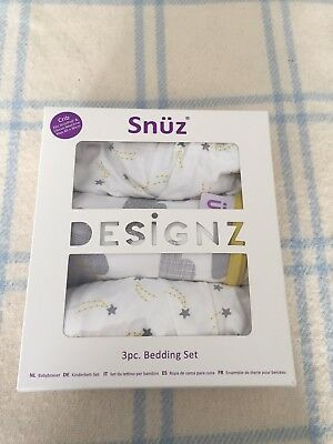 snuzpod 3 Pc Bedding Set, Cloud Nine
