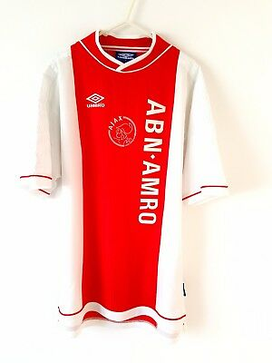 Ajax Home Shirt 1999. Large. Umbro. Red Adults Football Top L Short Sleeves
