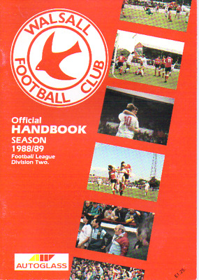 Walsall Football Club Handbook Season 1988/9