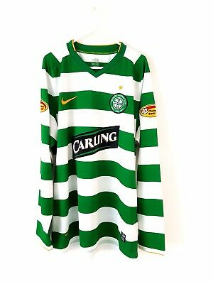 Celtic Home Shirt 2010. Large Nike. Green Adults Long Sleeves Football Top Only.