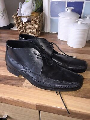 Mens black leather ankle boots from NEXT - Size 10