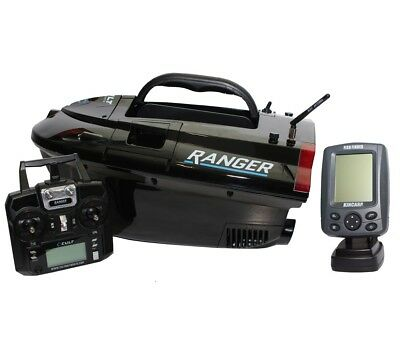 Cult Ranger Pro GPS Autopilot Baitboat LIPO With Black And White Fish Finder