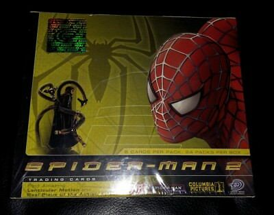Spiderman 2 Trading Card Booster Box Factory Sealed