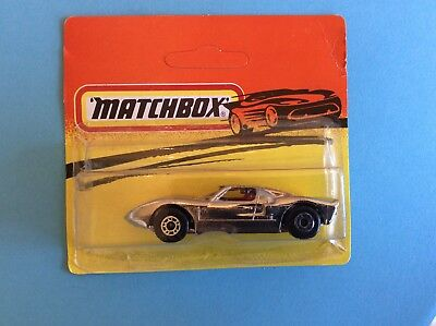 Matchbox Superfast 41 Ford Gt Chrome Plated , Mint On Card