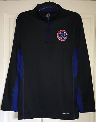 Chicago Cubs Baseball Jersey Medium Majestic Mlb Base Layer Top L/s Shirt