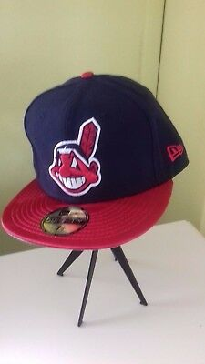 Cleveland Indians New Era Cap -59 Fifty - Size 7 3/8  - Brand new