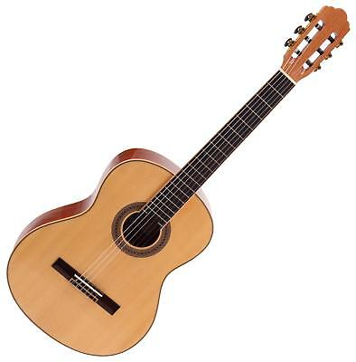 Classic Acoustic Concert Guitar 4/4 Nylon 6 Strings Spruce Natural Finish