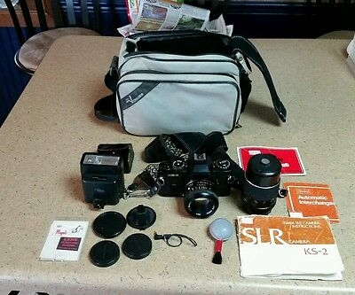 Vintage Sears KS-2 35 MM Camera, with Case & Acessories