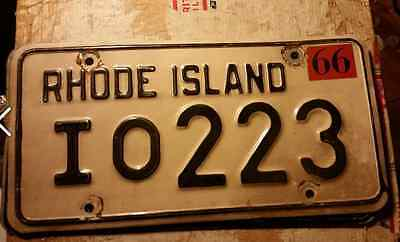 1966 Rhode Island License Plate Antique  Classic  Vintage Collector 1b