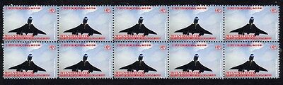 2003 Last Concorde Flight Strip Of 10 Mint Stamps 5