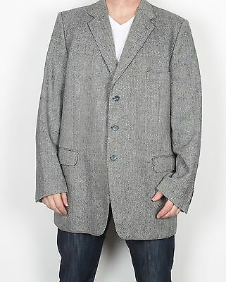 "Harris Tweed 46"" LONG XL XXL  Jacket Blazer Grey    (85U)"