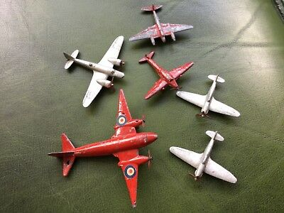 Crescent..dinky aeroplanes,incl mosquito,hurricanes etc.