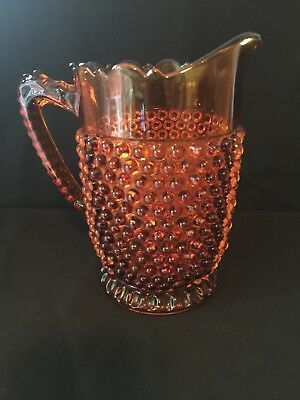 Antique~ Large Pitcher ~orange/yellow