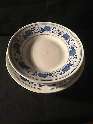 7 pcs .~Antique Chinese Porcelain Blue and White Plates