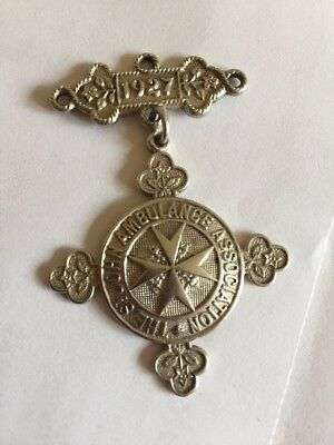 ST. JOHN AMBULANCE SILVER Medal With Bar 1927 Engraved