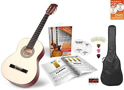 Classic Acoustic Guitar Beginner Set Gigbag Plectrums Pitch Tuner Strings 1/2