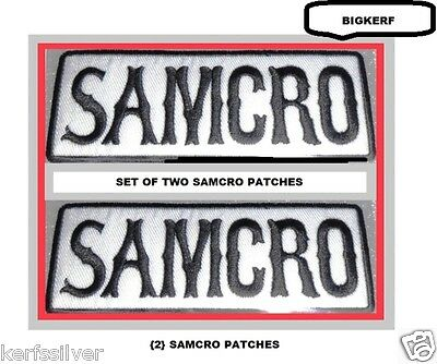 Lot Of  {2}  Samcro  Patches   Sons Of Anarchy  Roadgear Patches - Sew Or Iron