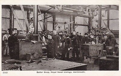 11425 Boiler Shop , Royal Naval College ,Dartmouth  unused Gale and Polden card