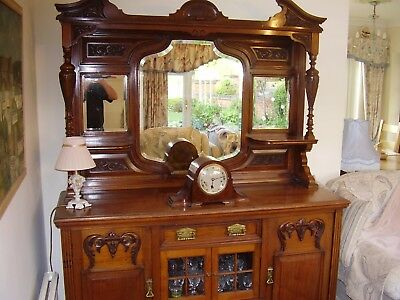 Large Beautifully Carved Antique Victorian mahogany Sideboard