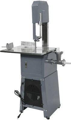Electric 550W Professional Stand Up Butcher Meat Band Saw & Grinder Sausage Gray