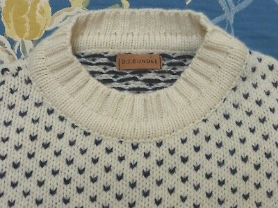 Ds Dundee Scottish Luxury Wool Fishermans Nordic Icelandic Sweater Jumper Xl Xxl