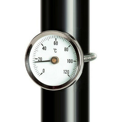 Stainless steel dial bi metal surface pipe thermometer