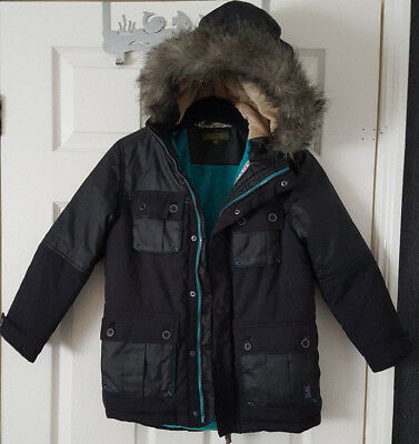 Ted Baker boys black padded Parka coat Age 9 yrs