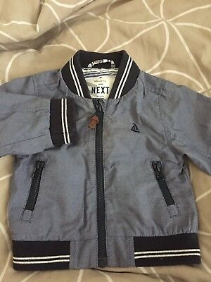 Next Baby Boy Bnwot Bomber Jacket Coat 6-9 Months