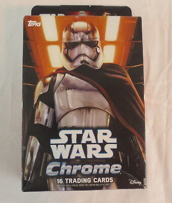 NEW Topps Star Wars The Force Awakens Chrome 16 Trading Cards & 1 Micro Comic