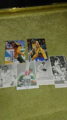 Australia cricket SIGNED pictures - Test & ODI players - Merv Hughes