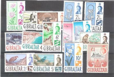 Gibraltar. 1960. SG160-173 definitive set x 14 values. Very fine unmounted mint.