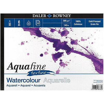 Daler Rowney Aquafine Watercolour Pad 12 Sheets 140lb / 300gsm - A4 TEXTURE