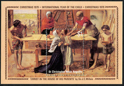 ST. CHRISTOPHER NEVIS ANGUILLA 1979 Christmas, MINI SHEET, MINT NH