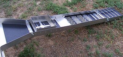 10 Inch - Monster  Sluice Box with Rail Track System Classifier & Flare ( Nice )