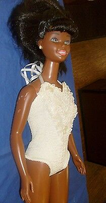 """HUGE Vintage 1992 African American My Size Barbie Doll 38"""" Tall Mattel Mexico"""