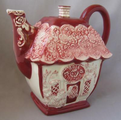 Large Blue Sky Clayworks Ceramic Heather Goldminc Rose Tea Shop Teapot
