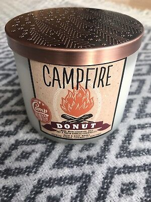 Bath And Body Works 3 Wick Scented Candle In Campfire Donut (Christmas Theme)