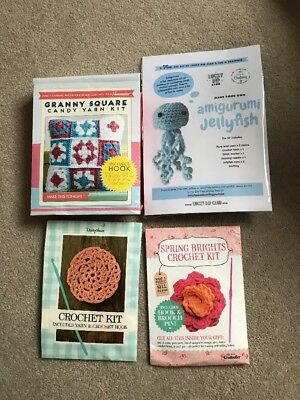 Bundle Of Four Small Crochet Kits