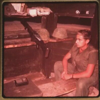 Vietnam Slide- 2 Tour Army GI with 18TH ENGINEER BRIGADE collection 1966-70 #72