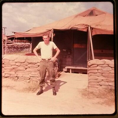 Vietnam Slide- 2 Tour Army GI with 18TH ENGINEER BRIGADE collection 1966-70 #75